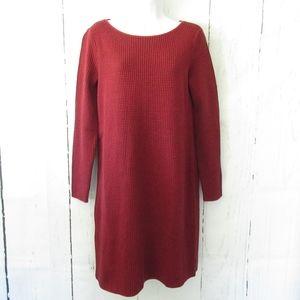 J Jill Dress Houndstooth Long Sleeve Tunic Sweater